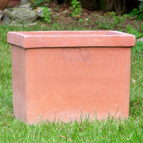 terracotta flower box / rectangular / traditional / home