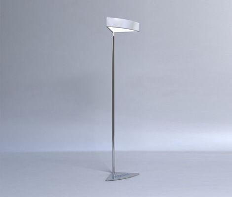 floor-standing lamp / contemporary / aluminum / plastic