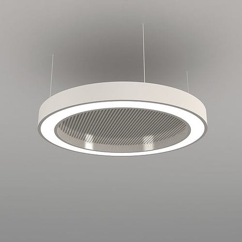 hanging light fixture / LED / round / aluminum