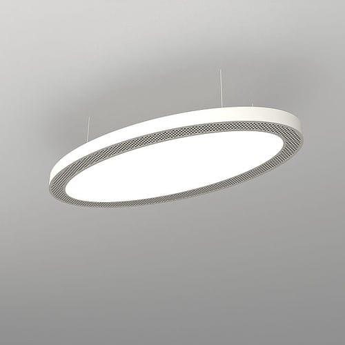 Hanging light fixture / LED / aluminum / plastic ACOUSTICS : NAA O SOB NEONNY