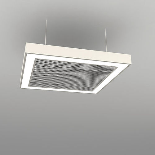 Hanging light fixture / LED / square / aluminum ACOUSTICS : NAA S FB NEONNY