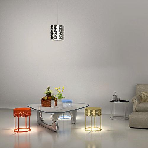 pendant lamp / contemporary / aluminum / plastic