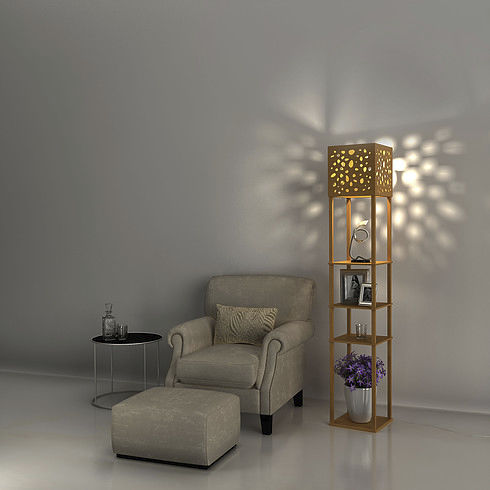 floor-standing lamp / contemporary / aluminum / plastic