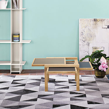 contemporary coffee table / solid wood / laminate / square