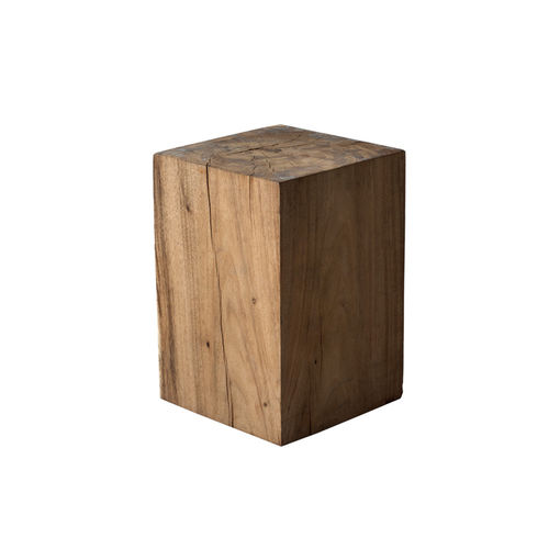 contemporary stool / solid wood / garden