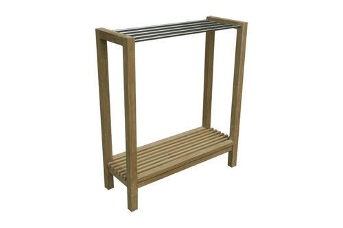 more than 3 bars towel rack / floor-standing / teak / garden