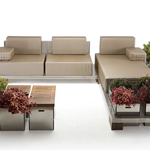 Corner sofa / modular / contemporary / outdoor TRICLINIVM PALMAR arredi