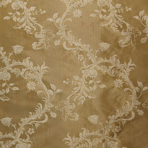 upholstery fabric / plain / floral pattern / cotton