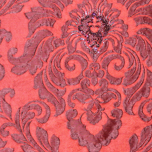 upholstery fabric / patterned / linen / polyester