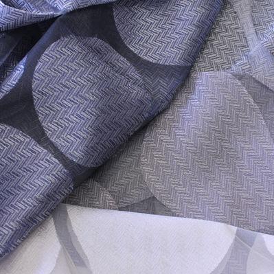 curtain fabric / geometric pattern / polyester / viscose