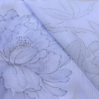 curtain fabric / floral pattern / polyester