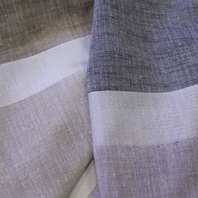 curtain fabric / striped / polyester