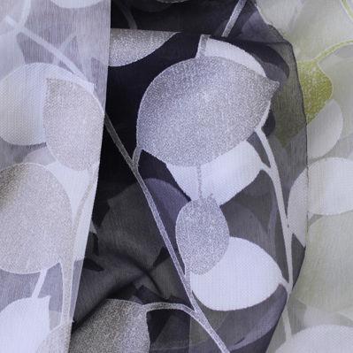 curtain fabric / nature pattern / polyester / viscose