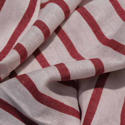 curtain fabric / striped / linen / acrylic