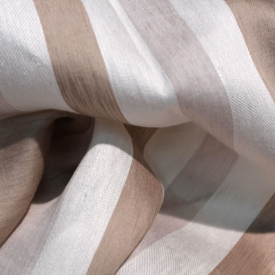 curtain fabric / striped / polyester / linen