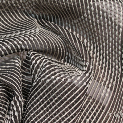 striped sheer curtain fabric / Trevira CS® / fire-rated / home