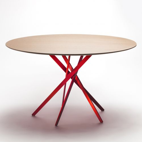 contemporary dining table / oak / MDF / wood veneer