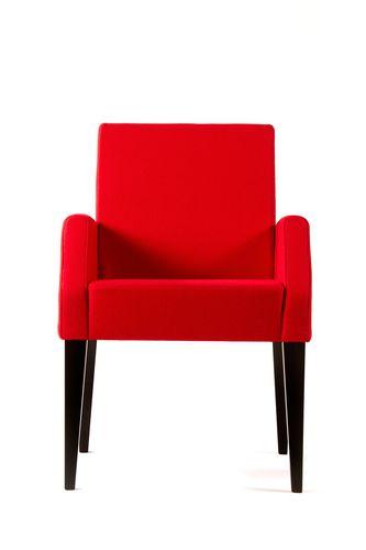 contemporary armchair / beech / fabric