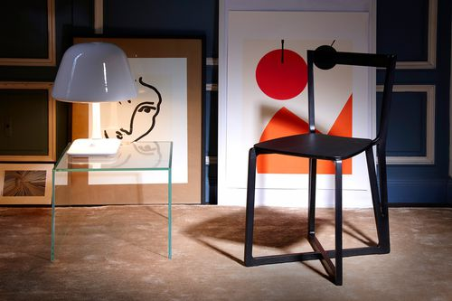 contemporary side table / glass / oak / rectangular