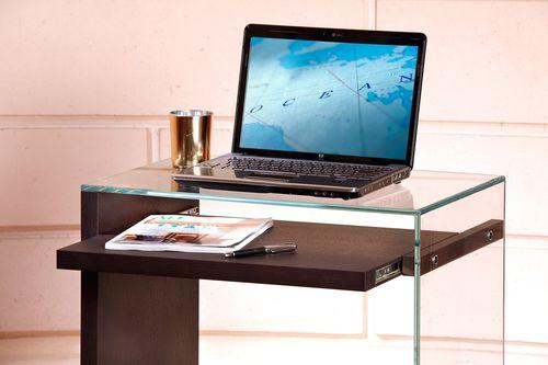 oak desk / glass / contemporary
