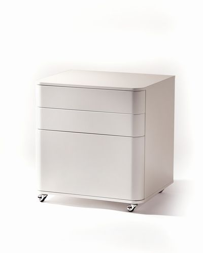 MDF office unit / 3-drawer / on casters