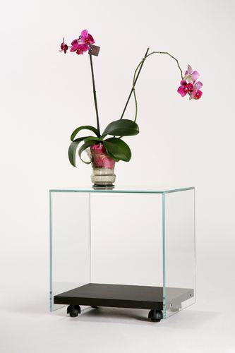 contemporary table / oak / tempered glass / rectangular