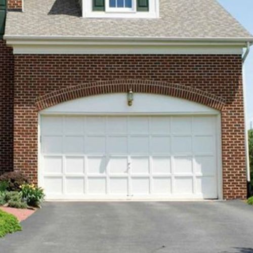 sectional gate / metal / louvered / garage