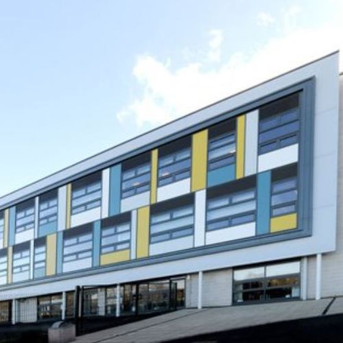 steel cladding / painted / durable