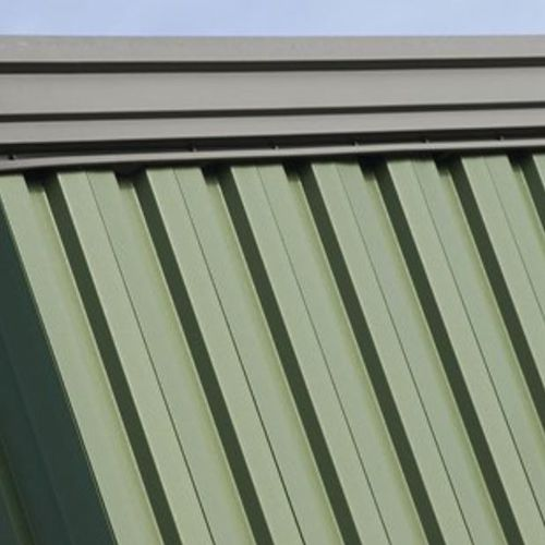 ribbed sheet metal / steel / for walls / roof