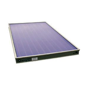 flat thermal panel / for heating / insulated / with frame