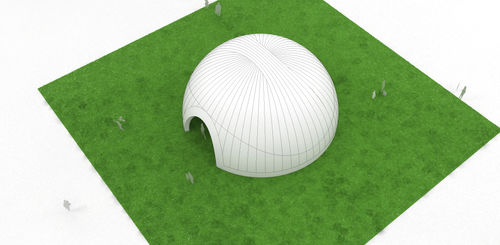 Special event inflatable structure THE MACAROON DOME Studio Souffle