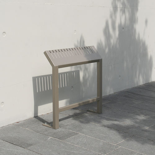 Stand-up bench / public / contemporary / steel GENERIC ACCENTURBA