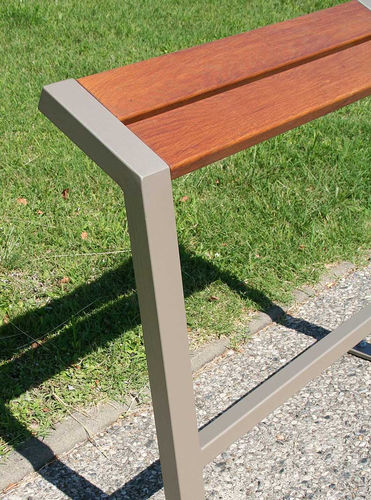 stand-up bench / public / contemporary / oak