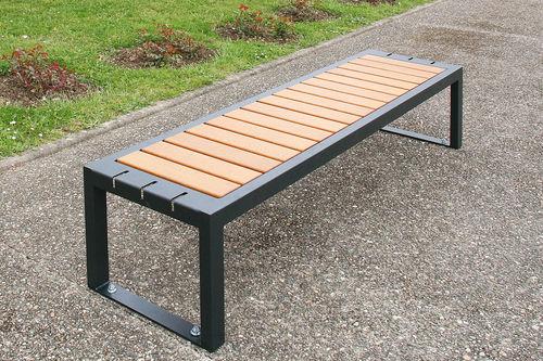 Public bench / contemporary / oak / steel VARIO by Agence Ilô Créatif ACCENTURBA