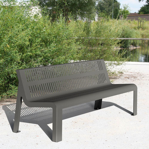 Public bench / contemporary / steel / with backrest ALTITUDE ACCENTURBA