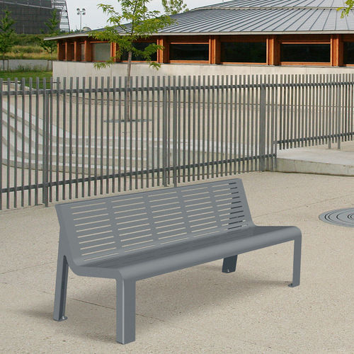 Public bench / contemporary / steel / with backrest AZIMUT ACCENTURBA