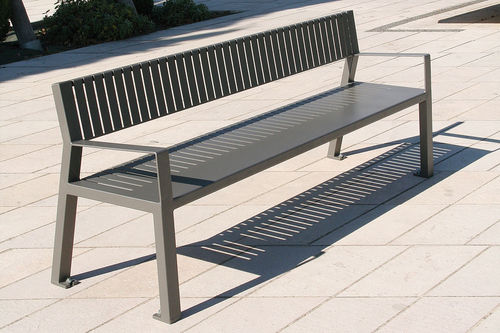 Public bench / contemporary / steel / with backrest GENERIC ACCENTURBA
