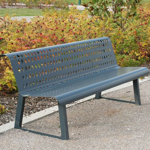 Public bench / contemporary / steel / with backrest OXYGO ACCENTURBA