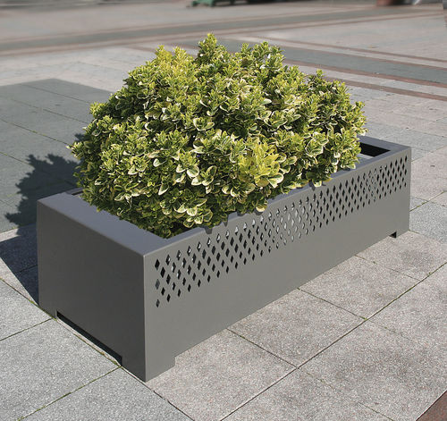 Steel planter / rectangular / contemporary / for public areas TAMARA ACCENTURBA
