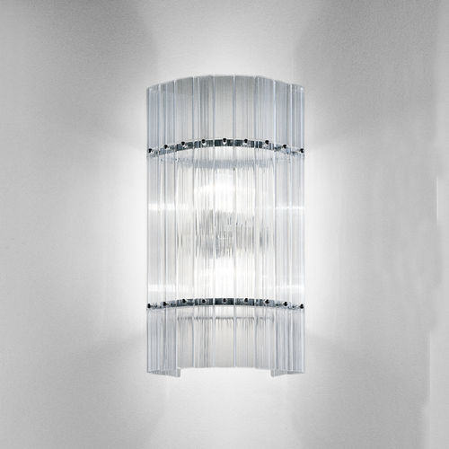 contemporary wall light / metal / crystal / incandescent