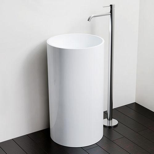 free-standing washbasin / round / stone resin / contemporary