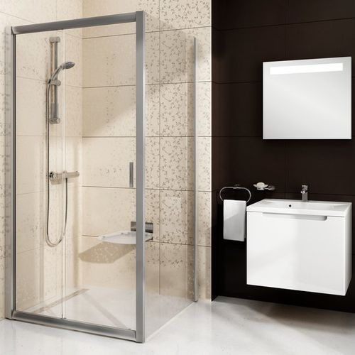sliding shower screen / fixed / corner