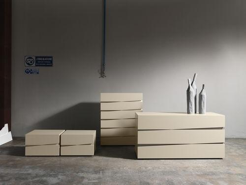 contemporary bedside table / oak / rectangular