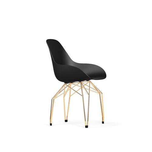 contemporary chair / metal / polypropylene / commercial