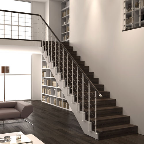 iron railing / wooden / with bars / cable