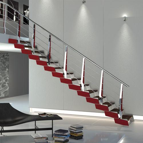 Straight staircase / quarter-turn / spiral / wooden steps LOFT RINTAL