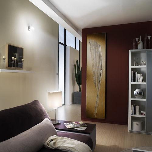 hot water radiator / electric / low-temperature / stone