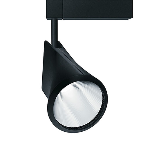 LED track light / round / cast aluminum / for shops