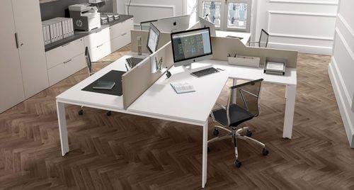 workstation desk / melamine / contemporary / commercial