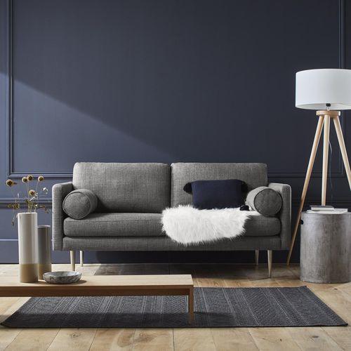 contemporary sofa / steel / canvas / cotton